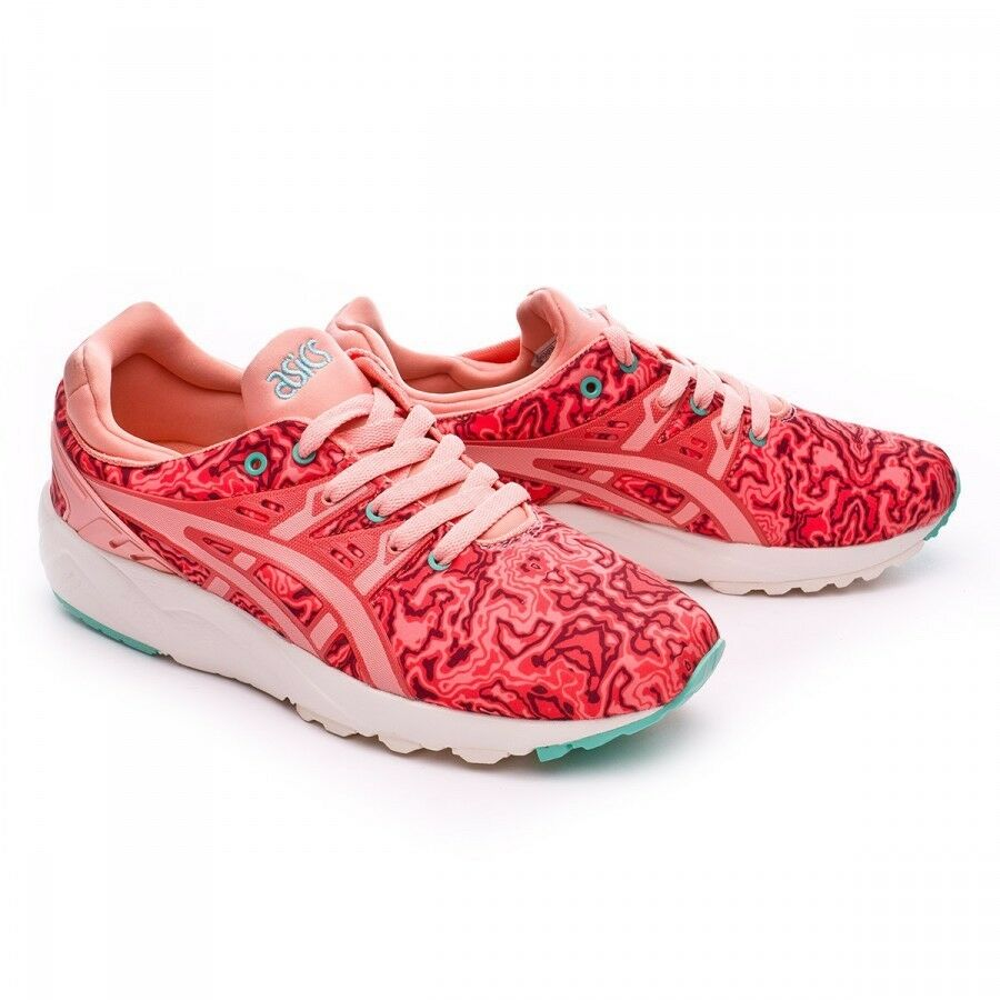 Asics Women's Rare Gel Hot Kayano Evo Trainers in Hot Gel Coral Peach Melba Size 0842af