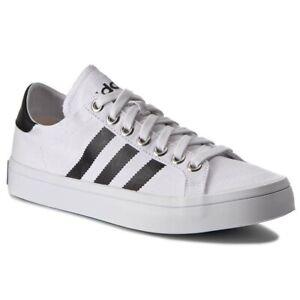 adidas CourtVantage Sizes 4.5 White RRP £48 Brand New S78765 RARE