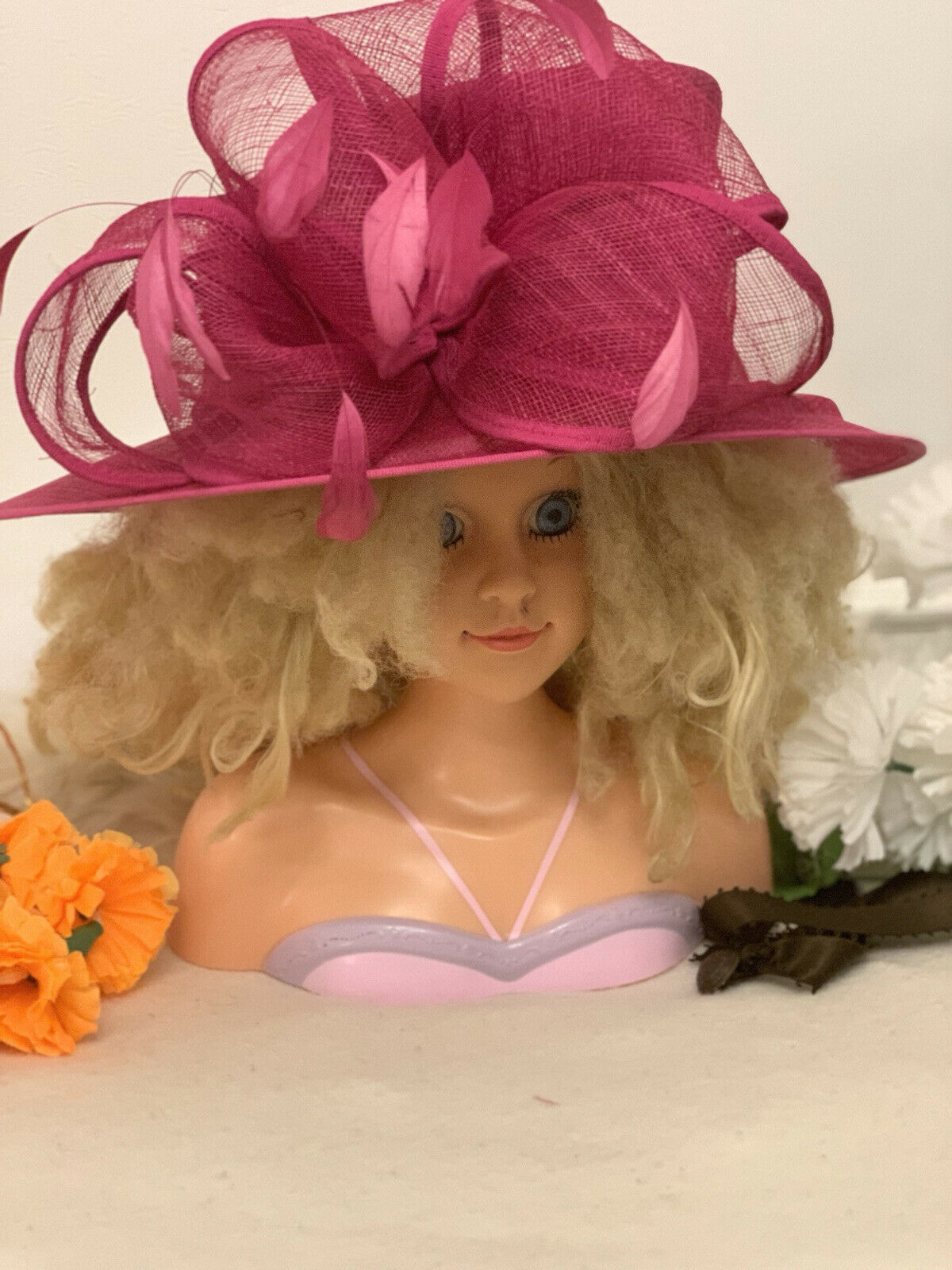 Exclusive FUCHSIA PINK Designer Millinery by Hat Couture Wedding/ Ascot RRP
