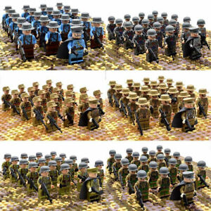 21pcs-WW2-Military-Soldiers-France-US-Britain-Army-Weapon-Building-Minifigures