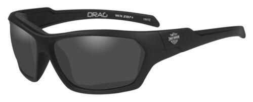 HARLEY-Davidson Uomo trascinare GUARNIZIONE Occhiali da sole lente GRIGIO//NERO cornici di hadra 01