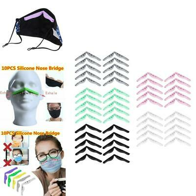 10PC BEIBEIA Accessory for Masks Prevent Eyeglasses from Fogging Anti Fog Nose Bridge Silicone Nose Bridge,Silicone Holder Increases Breathing Space to Help Breathe