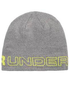 bc992ff6fe623 Details about  125 UNDER ARMOUR MEN GRAY UA KNIT SPORT CAP WINTER WARM SKI  HAT BEANIE ONE SIZE