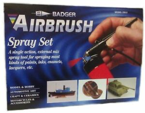 Badger-Model-250-3-STARTER-KIT-Single-Action-External-Mix-Airbrush-with-Gas-Can
