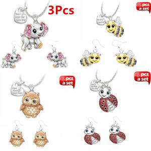 Women-Owl-Rhinestone-Crystal-Pendant-Necklace-Animal-Long-Sweater-Chain-Jewelry