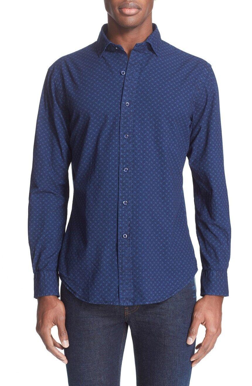 Ralph Lauren Polo Slim Fit Cotton Dot Stripe Shirt New