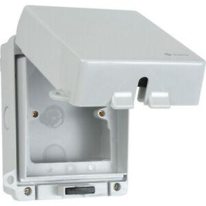 Outdoor Weatherproof Enclosure Box pour 2 Gang Double Socket-vide verrouillable