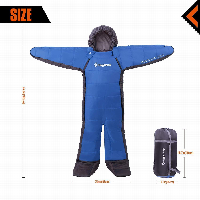 KingCamp  3 Season 17.6 F Wearable Standing  Sleeping Bag ADULT LARGE  fashionable