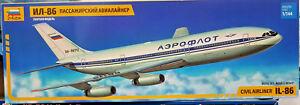 Ilyushin-Il-86-Civil-4-Engine-Airliner-Aeroflot-Zvezda-Kit-1-144-7001-Nuovo