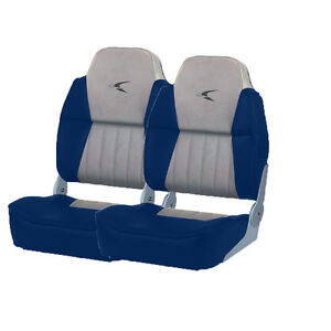 2-NEW-GRAY-NAVY-WISE-PREMIUM-HIGH-BACK-BOAT-SEATS-WD640PLS-660