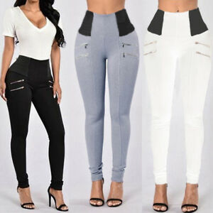 2017-Women-High-Waisted-Stretch-Skinny-Long-Trousers-Leggings-Slim-Pencil-Pants