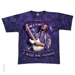 New-JIMI-HENDRIX-Purple-Haze-Tie-Dye-T-Shirt