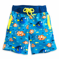 Disney Store Finding Dory Swim Trunks Shorts Boy Size 3 4 5/6
