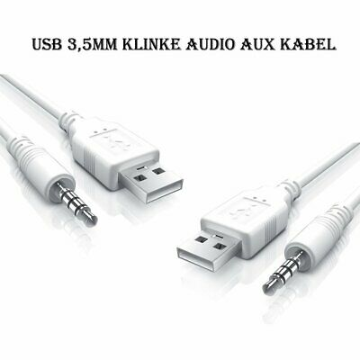 2,5 mm Klinkenstecker auf 3,5 mm Klinkenbuchse Stereo AUX Audio TRS Adapter  xj