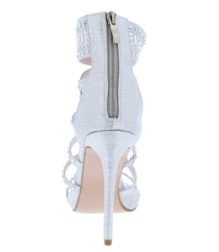 Studded Rhinestone Open Toe Strappy High Stilettos Heels Sandals US 5.5-10 H172