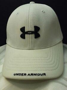 6eaf795ab Under Armour Men's UA White Hat Medium Embroidery Black Logo 100 ...