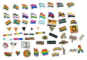 86c27afb5e4 Gay Pride Enamel Lapel Pins Badges Rainbow Leather Bear Flag LGBT ...