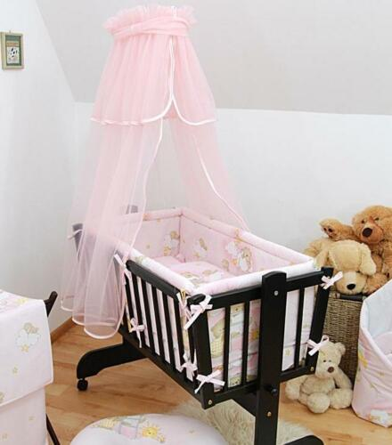 Pink Swinging Crib Cradle Baby Canopy For Rocking Crib Moses Basket