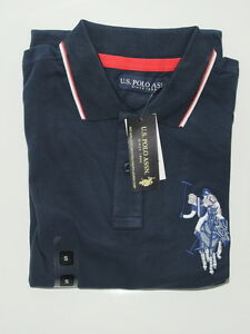 U-S-Polo-ASSN-CUSTOM-FIT-Polo-a-manches-courtes-T-shirt-top-100-Genuine-Article