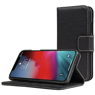 For Apple iPhone X XS Max 6 7 8 Plus Case Cover Real Genuine Leather Flip Wallet