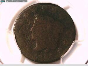1821 Large Cent PCGS Genuine Exc. Corrosion - P/FR Detail 38421291 Video