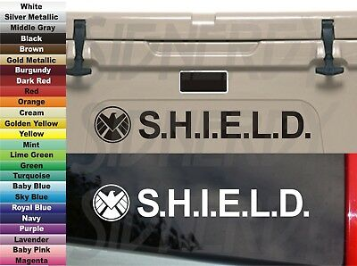 "S.H.I.E.L.D. SHIELD Homeland Espionage Agent Comics 8"" VINYL STICKER DECAL X's 2"