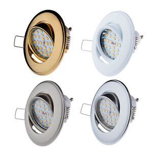 Einbau-Strahler GU10 / GU5,3 Schwenkbar Einbaurahmen Einbau-Leuchte LED ML750