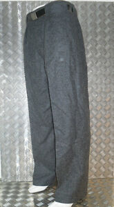 Genuine-Vintage-Grey-Danish-Army-Fitted-Wool-Trousers-All-Sizes-BRAND-NEW