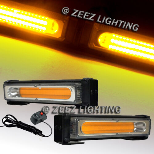20W Amber COB LED Emergency Hazard Warning Flash Strobe Beacon Light Bar C92