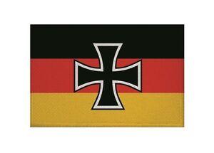 Aufnaher-Reichswehr-Minister-Fahne-Flagge-Aufbugler-Patch-9-x-6-cm