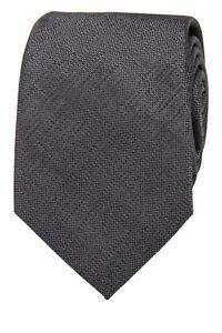 NEW-Blaq-Plain-Poly-Tie-Charcoal