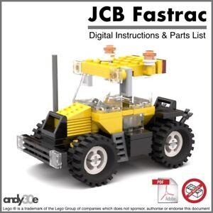 Lego-MOC-JCB-Fastrac-Tractor-I-PDF-INSTRUCTIONS-ONLY-I-Town-City-Farm-Classic