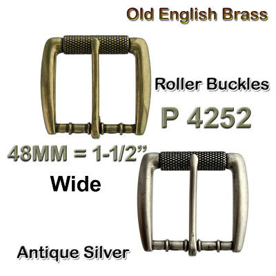 To Fit 40mm Wide Belt Old Silver Finish Old Style Roller Buckle