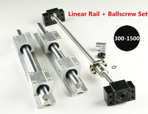 SFU1204 Blallscrew Kit For CNC DIY SBR16 Linear Rail L300-1500mm Set