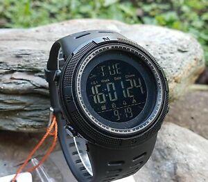 SKMEI-Mens-1251-All-Black-Military-Style-Army-Walking-Sports-Waterproof-Watch