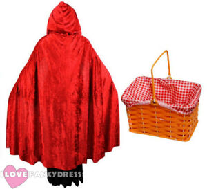 RED-RIDING-HOOD-COSTUME-CAPE-AND-BASKET-SCHOOL-BOOK-WEEK-FANCY-DRESS-COSTUME