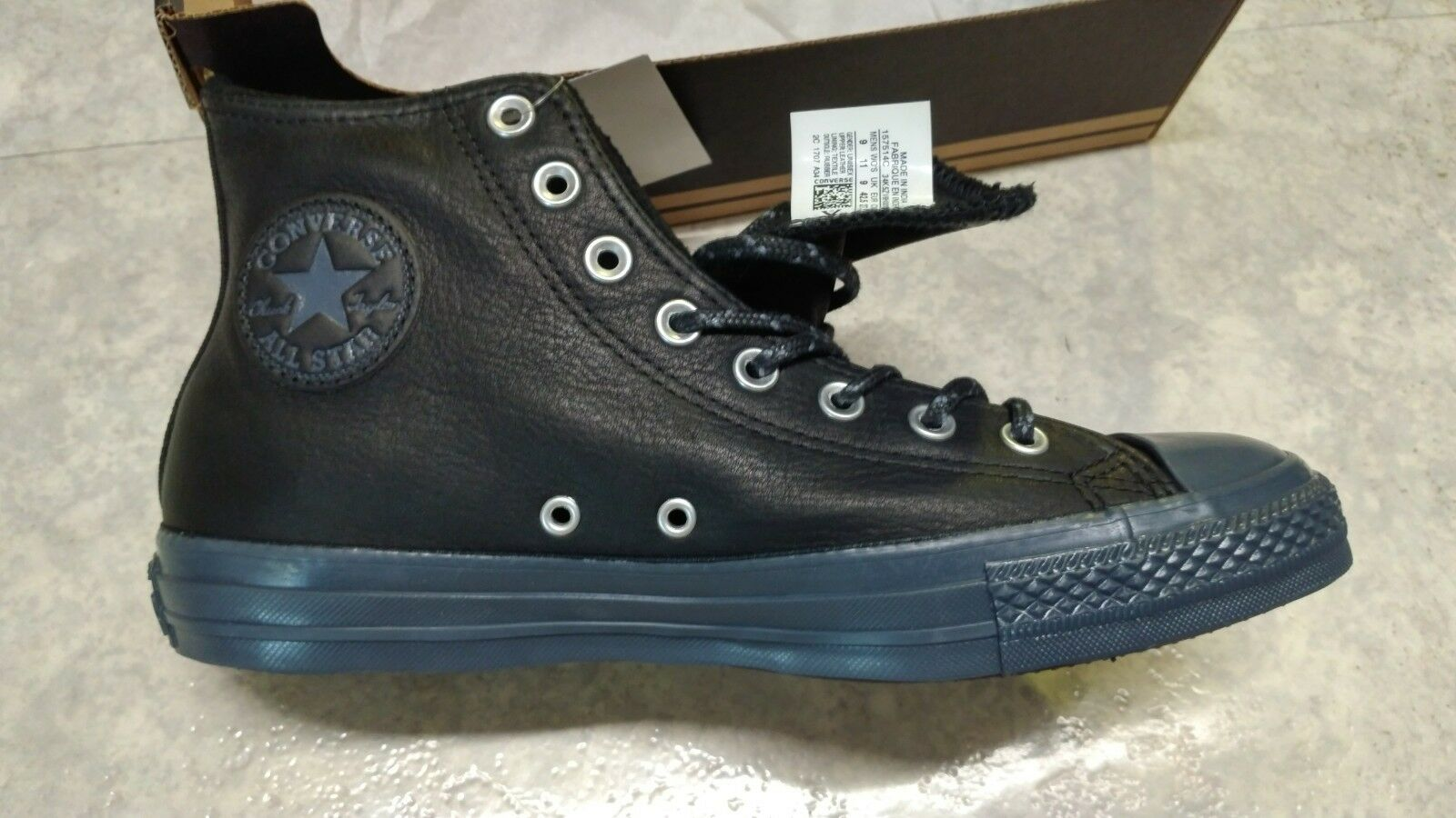 Chuck Taylor All Star Leather + Thermal ! Gr. 42,5 . Schwarz!