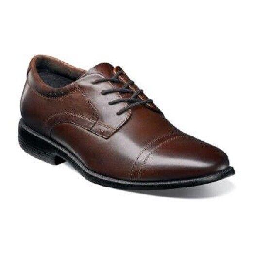 uomo Shoes Nunn Bush Dixon Cap Toe Oxford Brown Leather Comfortable 84724-200 Scarpe classiche da uomo