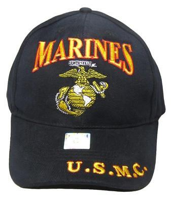 Embroidered US Marines USMC Red and Black EGA Baseball Hat Cap
