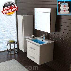 Waschbecken Mit Unterschrank Inkl Spiegelschrank Weiss Gaste Wc