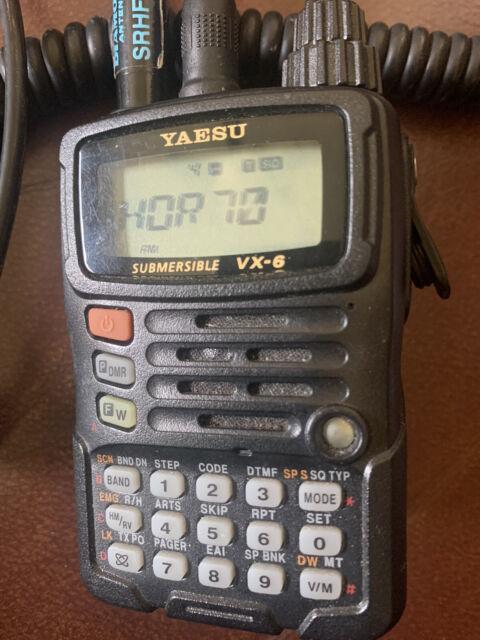 Yaesu VX-6R Tri Band Submersible Radio Transceiver - Black for sale online   eBay