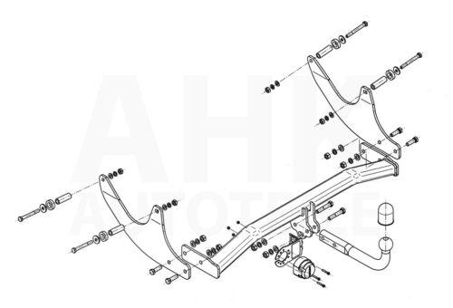 Für Dacia Logan II MCV ab 17 Anhängerkupplung starr+E-Satz 13p spez ABE