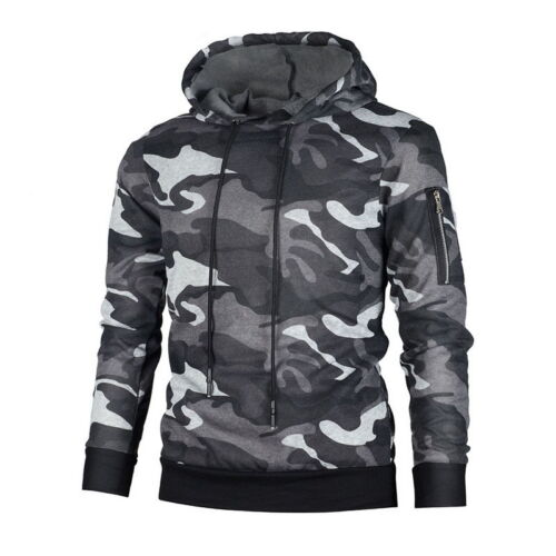 2018 Herren Camo Militär Sweatshirts Kapuzenpullover Hoodie beiläufige Casual FL