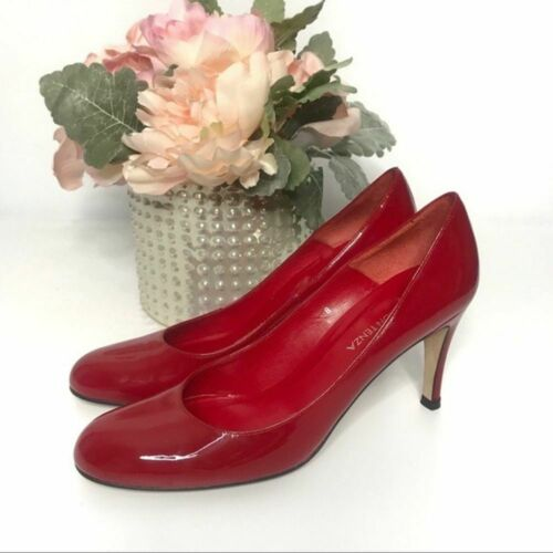 Ramon Tenza Red Patent Leather Pumps