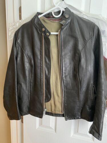 schott cafe racer leather motorcycle jacket