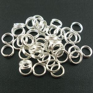 4-14MM-Silver-Plated-Metal-Double-Loop-Split-Open-Jump-Rings-Jewelry-Findings