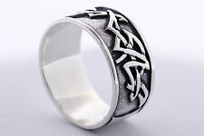 925 STERLING SILVER SOLID MENS NO STONE RING SIZE UK-  P or Q  or  U