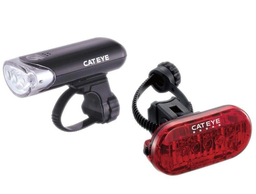 Cateye Anteriore EL135 e Posteriore TL155 Omni Omni Omni 5 Led Set Luci | Nuovo mercato  | Il materiale di altissima qualità  7d5af6