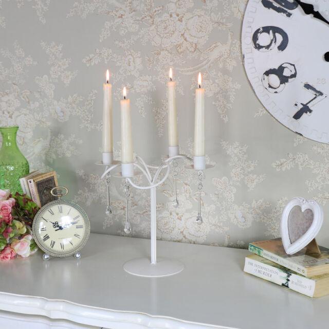 Cream Swirl Metal Candelabra Candle