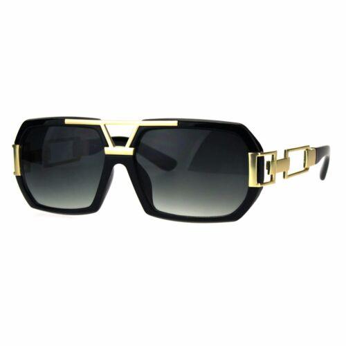 Mens Designer Fashion Sunglasses Flat Top Rectangular Stylish Shades UV 400